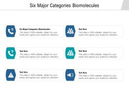 Six Major Categories Biomolecules Ppt Powerpoint Presentation Icon Graphics Template Cpb