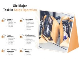 Six Major Task In Sales Operation