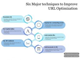 Six Major Techniques To Improve URL Optimization