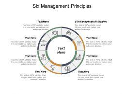 Six Management Principles Ppt Powerpoint Presentation Model Maker Cpb