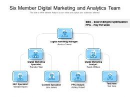 Six Member Digital Marketing And Analytics Team