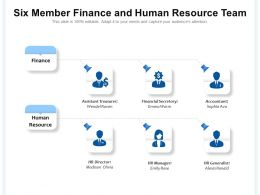 Six Member Finance And Human Resource Team