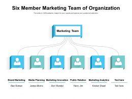 Six Member Marketing Team Of Organization
