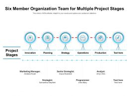 Six Member Organization Team For Multiple Project Stages