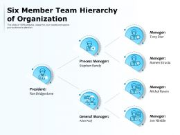 Six Member Team Hierarchy Of Organization
