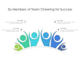 Six Members Of Team Cheering For Success