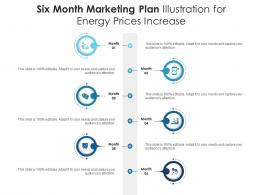 Six Month Marketing Plan Illustration For Energy Prices Increase Infographic Template