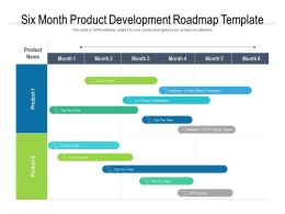Six Month Product Development Roadmap Template