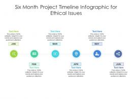 Six Month Project Timeline For Ethical Issues Infographic Template