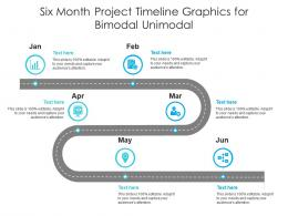 Six Month Project Timeline Graphics For Bimodal Unimodal Infographic Template