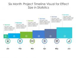 Six Month Project Timeline Visual For Effect Size In Statistics Infographic Template