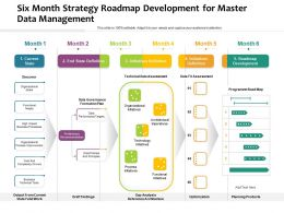Six Month Strategy Roadmap Development For Master Data Management
