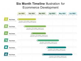 Six Month Timeline Illustration For Ecommerce Development Infographic Template