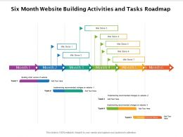 Six Month Website Building Activities And Tasks Roadmap