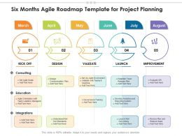 Six Months Agile Roadmap Template For Project Planning