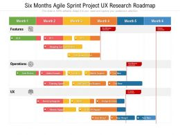 Six Months Agile Sprint Project UX Research Roadmap