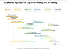 Six Months Application Deployment Program Roadmap
