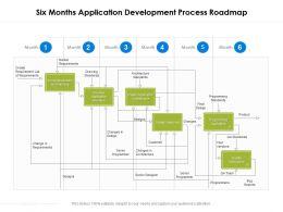 Six Months Application Development Process Roadmap