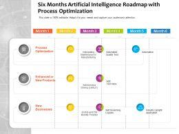 Six Months Artificial Intelligence Roadmap With Process Optimization