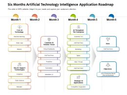 Six Months Artificial Technology Intelligence Application Roadmap