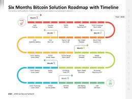 Six Months Bitcoin Solution Roadmap With Timeline