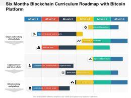 Six Months Blockchain Curriculum Roadmap With Bitcoin Platform