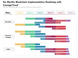 Six Months Blockchain Implementation Roadmap With Concept Proof