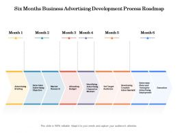 Six Months Business Advertising Development Process Roadmap