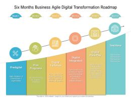 Six Months Business Agile Digital Transformation Roadmap