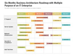 Six Months Business Architecture Roadmap With Multiple Purpose Of An IT Enterprise