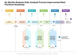Six Months Business Data Analysis Process Improvement Best Practices Roadmap
