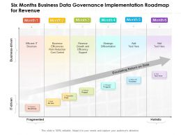 Six Months Business Data Governance Implementation Roadmap For Revenue