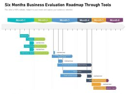 Six Months Business Evaluation Roadmap Through Tools