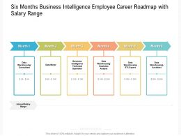 Six Months Business Intelligence Employee Career Roadmap With Salary Range