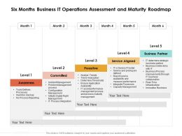 Six Months Business IT Operations Assessment And Maturity Roadmap