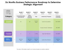 Six Months Business Performance Roadmap To Determine Strategic Alignment