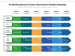 Six Months Business Process Improvement Validation Roadmap