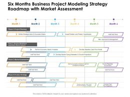 Six Months Business Project Modeling Strategy Roadmap With Market Assessment
