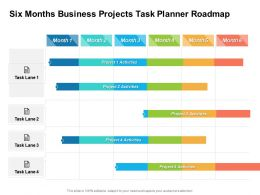 Six Months Business Projects Task Planner Roadmap