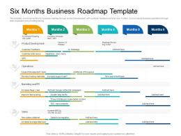 Six Months Business Roadmap Timeline Powerpoint Template