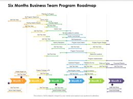 Six Months Business Team Program Roadmap