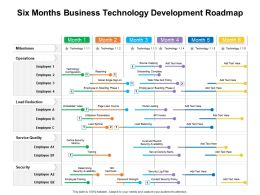 Six Months Business Technology Development Roadmap