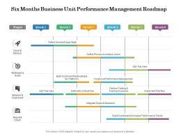 Six Months Business Unit Performance Management Roadmap