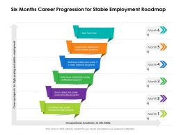 Six Months Career Progression For Stable Employment Roadmap