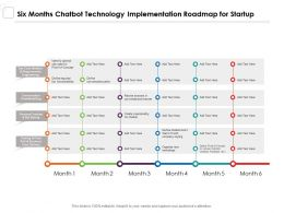 Six Months Chatbot Technology Implementation Roadmap For Startup