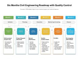 Six Months Civil Engineering Roadmap With Quality Control