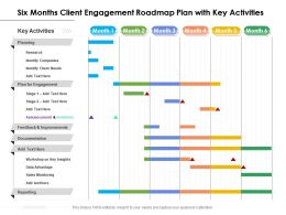 Six Months Client Engagement Roadmap Plan With Key Activities