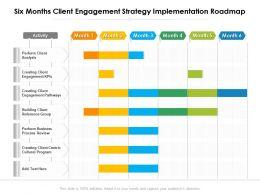 Six Months Client Engagement Strategy Implementation Roadmap