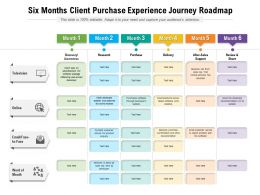 Six Months Client Purchase Experience Journey Roadmap