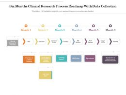 Six Months Clinical Research Process Roadmap With Data Collection